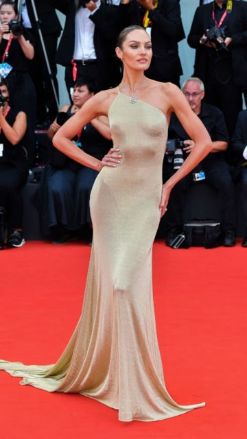 "Candice Swanepoel on Red Carpet – ""La Vérité"" Screening in Venice"