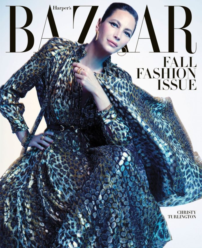Christy Turlington – Harper's Bazaar US September 2019 Cover and Photos