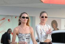 Doutzen Kroes and Candice Swanepoel – Leaving Ushuaia Hotel in Ibiza