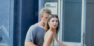 Emily Ratajkowski and Sebastian Bear-McClaud – Out in NY