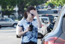 Emma Roberts – Stops for Coffee in Los Angeles