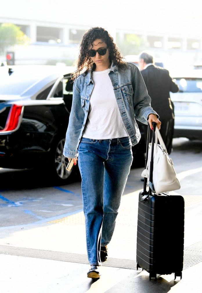 Emmy Rossum – LAX Airport in Los Angeles