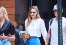 Gigi Hadid in Biker Shorts – Leaving Her Apartment in NYC