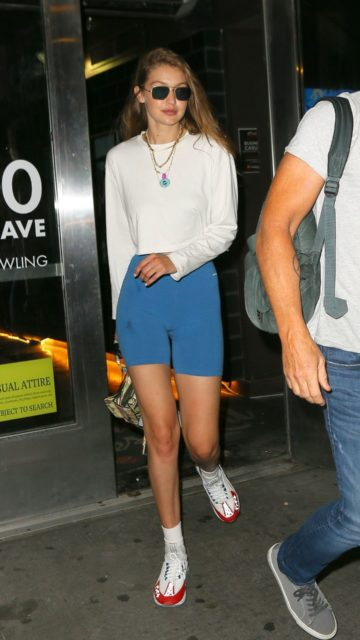 Gigi Hadid – Leaving Frams Bowling in New York