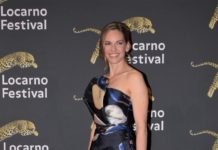Hilary Swank – Receiving the Leopard Club Award at Locarno Film Festival 2019