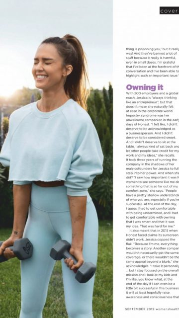 Jessica Alba – Women's Health Australia September 2019 Issue