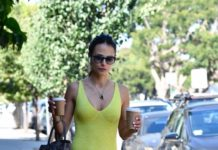 Jordana Brewster – Out for Coffee in Brentwood