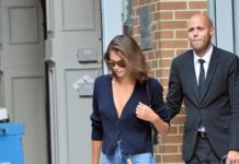 Kaia Gerber in Denim Pants and a Pair of Black Converse – NYC
