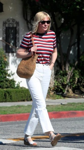 Kirsten Dunst – Leaves the Hair Salon in West Hollywood