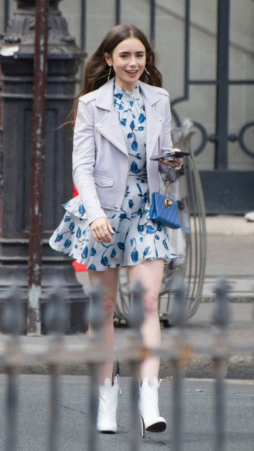 "Lily Collins – ""Emily in Paris"" Set in Paris"