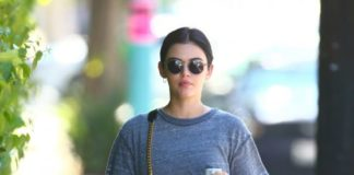 Lucy Hale – Going to the Gym in Studio City
