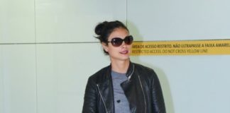 Morena Baccarin in Travel Outfit – Guarulhos International Aiport in Sao Paul
