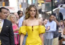 Sistine Stallone – Outside GMA in NYC