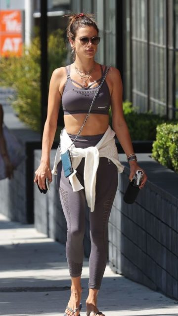 Alessandra Ambrosio – Outside a Pilates Class in LA