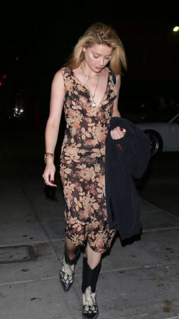 Amber Heard Night Out Style – Beverly Hills