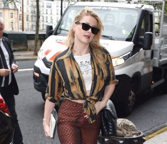 Amber Heard – Shopping at the Chanel Store in Paris