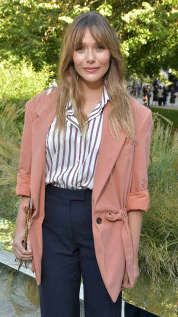 Elizabeth Olsen – Salvatore Ferragamo Fashion Show in Milan