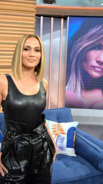 Jennifer Lopez in All Black at Despierta America in Miami