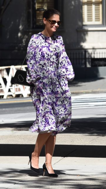 Katie Holmes in Floral Dress