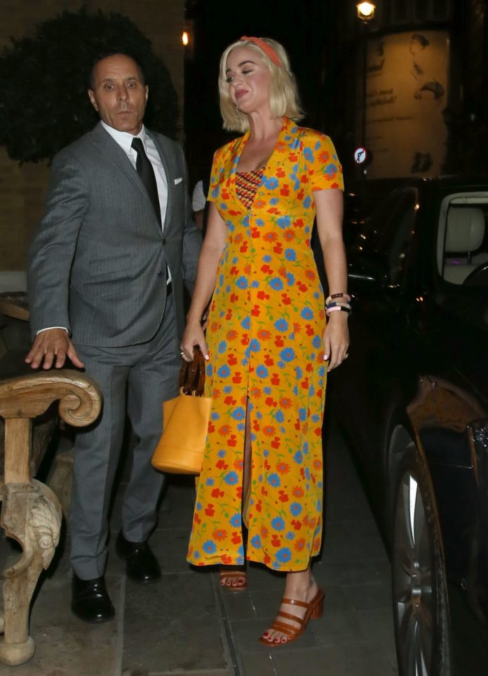 Katy Perry at The Ham Yard Hotel in London