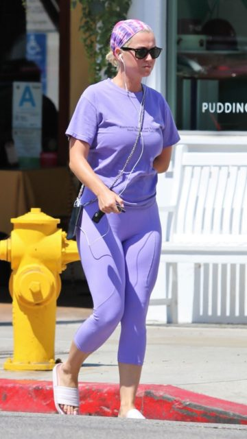 Katy Perry in Leggigns – Out in LA