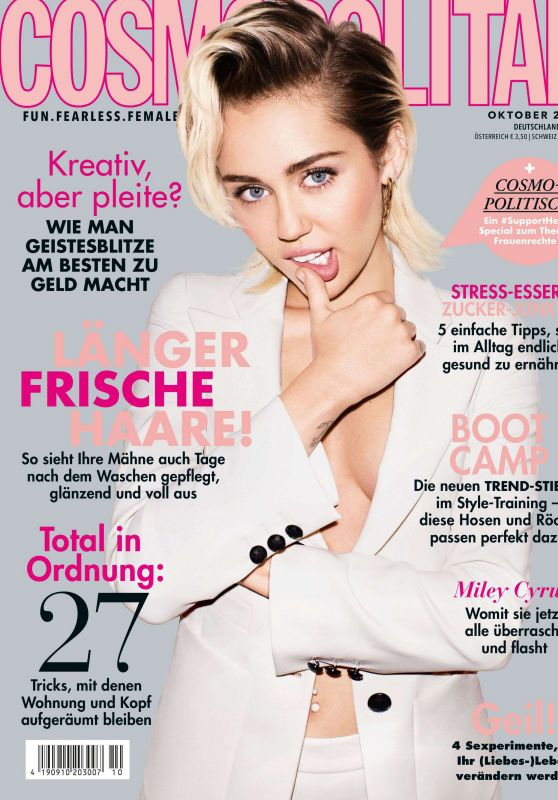 Miley Cyrus – Cosmopolitan Magazine October 2019 Issue