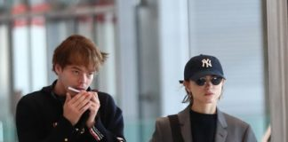 Natalia Dyer and Charlie Heaton Arrive at CDG Airport in Paris