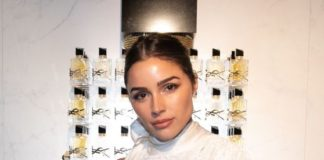 "Olivia Culpo – Yves Saint Laurent Beauty and Dua Lipa Launch of the New Fragrance ""Libre"" in Paris"