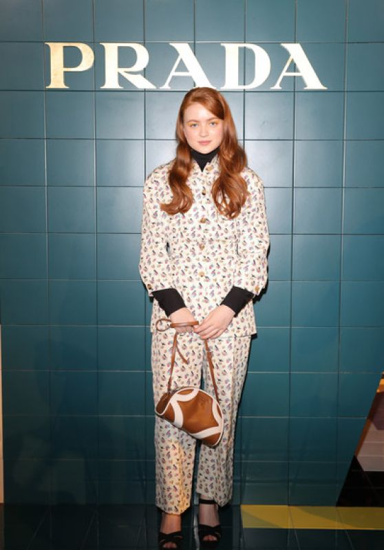 Sadie Sink – Prada Womenswear Fashion Show in Milan