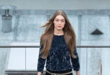 Gigi Hadid Walks Chanel Show in Paris