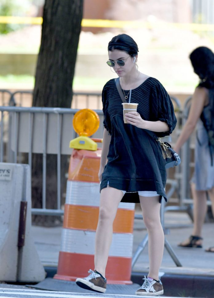Lucy Hale – Out for an Iced Coffee in NYC