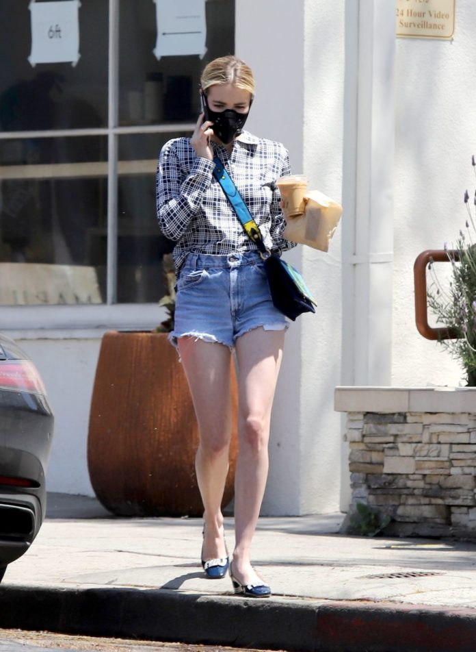 Emma Roberts Street Style In Los Angeles