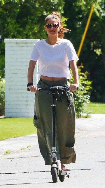 Maria Menounos – Out For a Scooter Ride in LA