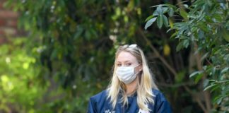 Sophie Turner Shows Her Growing Bump – Walking Her Dogs in LA
