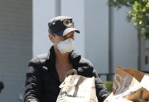 Charlize Theron Shopping Bristol Farms in West Hollywood