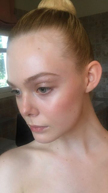 Elle Fanning Looks Out On Social Media